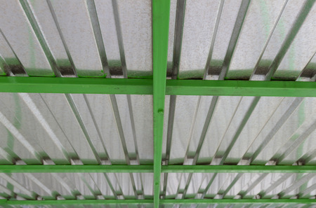 coate: roof of galvanized iron with green beams