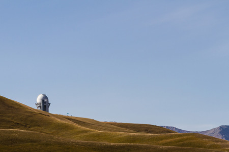 high plateau: Observatory in the mountains of Kazakhstan on a high plateau
