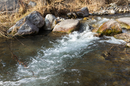 stream of water in a mountain river