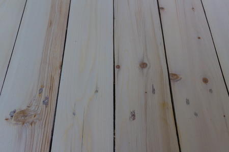 panel of wooden planks polished before varnishing