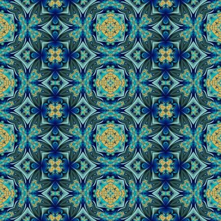 textile image: Kaleidoscopic wallpaper tiles Stock Photo