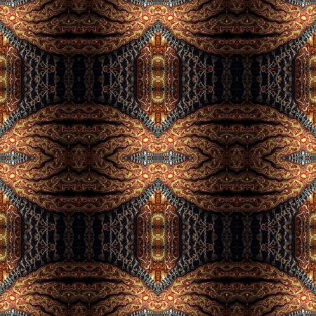 Kaleidoscopic wallpaper tiles Stock Photo