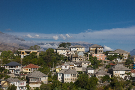 Gjirokaster is a city in southern Albania. Reklamní fotografie