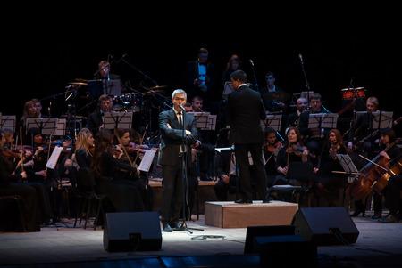 tenor: KHARKIV, UKRAINE , MARCH 15: World famous Italian operatic tenor Alessandro Safina performs at the N.V. Lysenko Kharkiv Academic Theater of Opera and Ballet on March 15, 2016 in Kharkiv, Ukraine Editorial