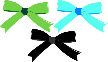 briliance: vector illustration on which there is three beautiful bows Illustration