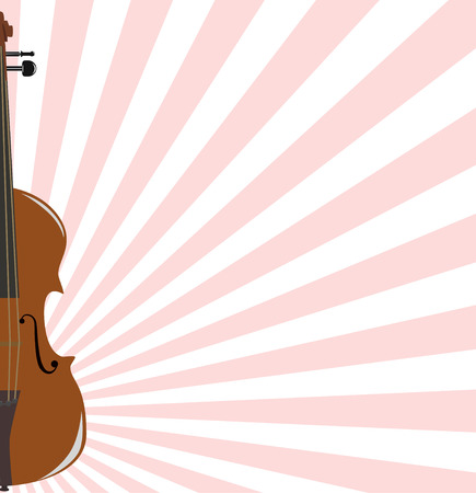melodist: background with violin Illustration