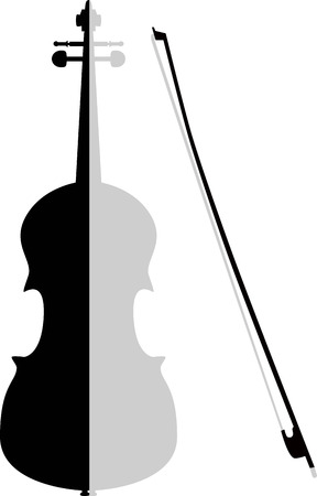 virtuoso: unusual violin Illustration