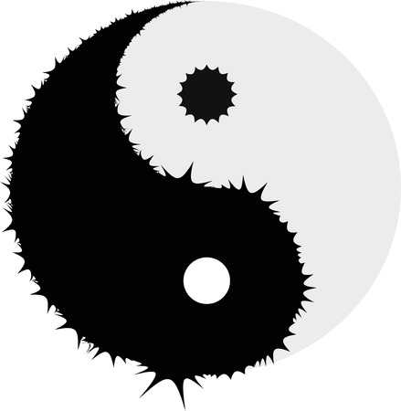 yin and yang Vector