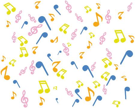 music notation: background music notation