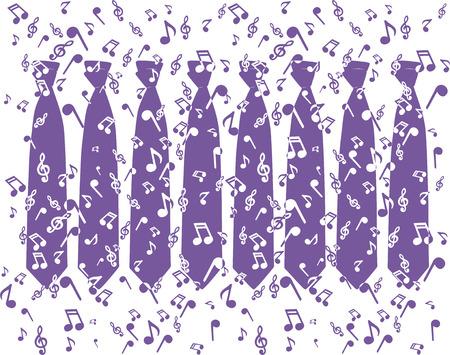 Music Ties Vector
