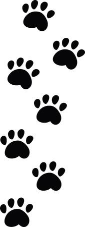 foot print: traces des animaux  Illustration