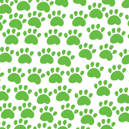 puppy and kitten: animal background green Illustration