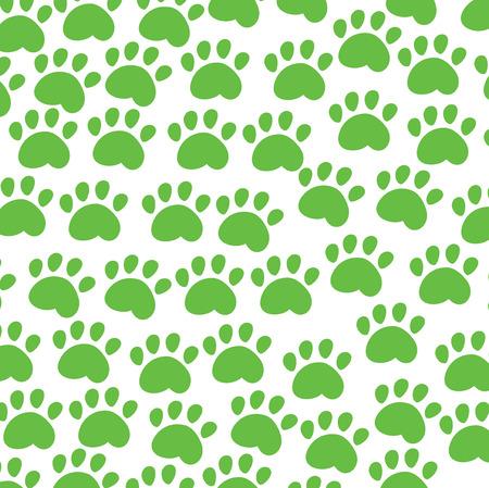 pawprint: animal background green Illustration