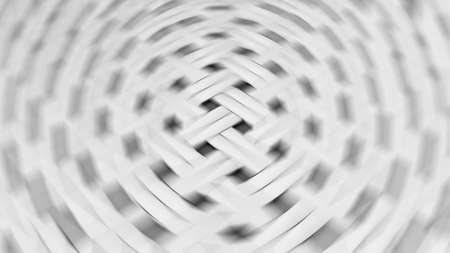 3D rendering abstract geometric pattern. Circular blur effect. Monochrome gray colors. Background for modern minimalistic design 免版税图像