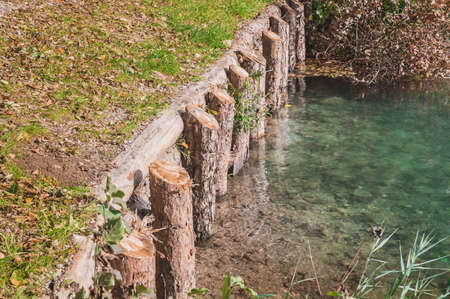 Engineering protection of shores from landslides on Lake Blaysko in Slovenia
