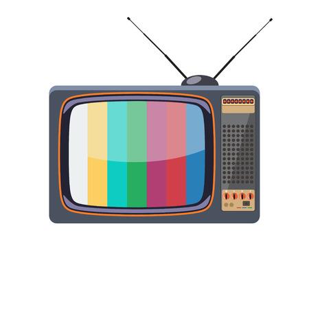 Vector retro TV on white background. Vector art.
