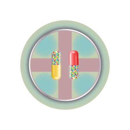 Pill Icon Illustration. Vector Sign Symbol. Icon