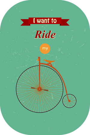 Vintage Retro Bicycle. Go out with bicycle retro style Illustration
