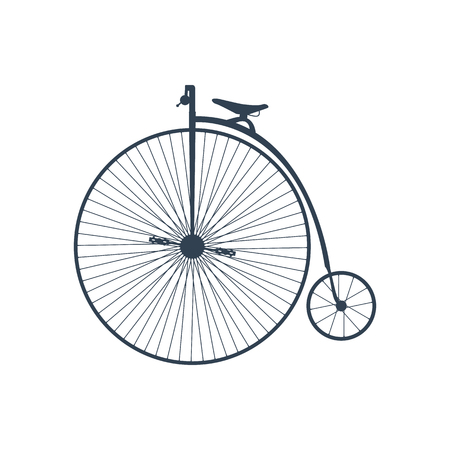 Retro Bicycle on white background. Imagens - 82894055
