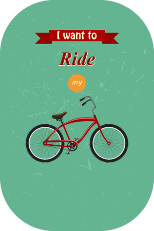 spoke: Vintage Retro Bicycle. Go out with bicycle retro style Illustration