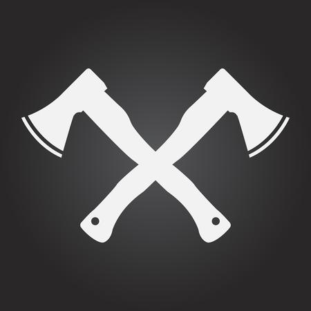 Ax icon stock vector illustration flat design. Illustration