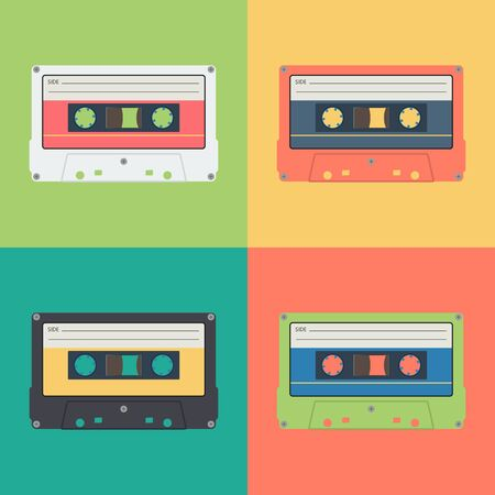 Cassette music old fashion. Retro and vintage technology concept represented by Cassette icon.