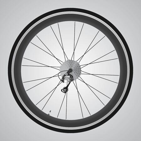 Bicycle wheel. Sample text, exemplary branding.