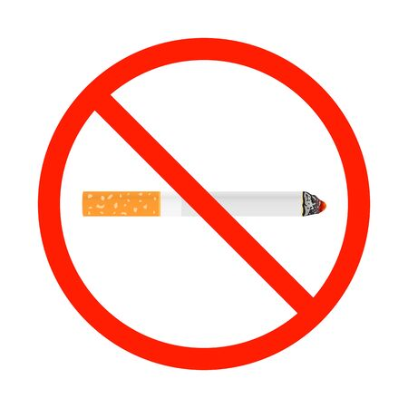 World No Tobacco Concept Stop Smoking. Diseases of cigarette Vector Illustration