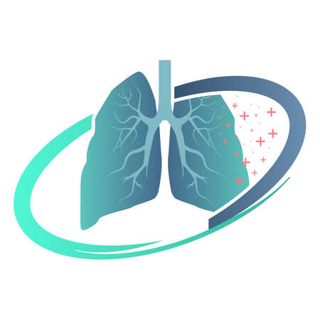 Lungs sign. Iconic logo designs. Lungs Logo template 矢量图像