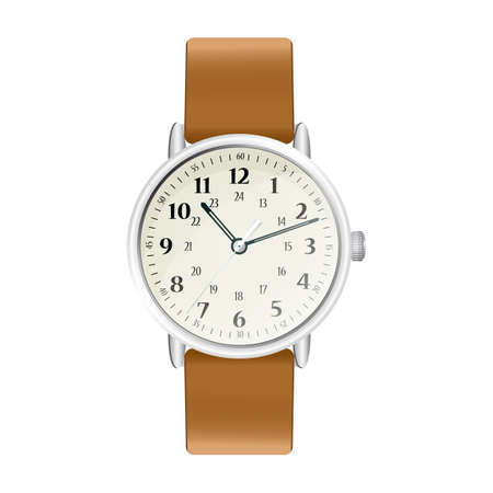 Classic and modern mens watches. Realistic illustration.