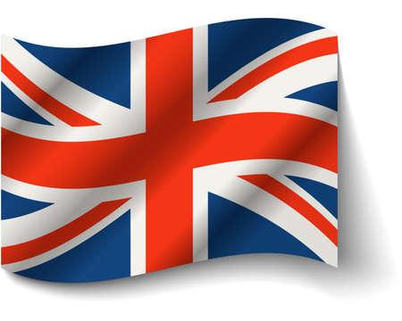 Flag of the United Kingdom vector. Grunge background