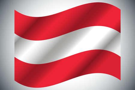 Flag of Austria. Vector illustration. Grunge background