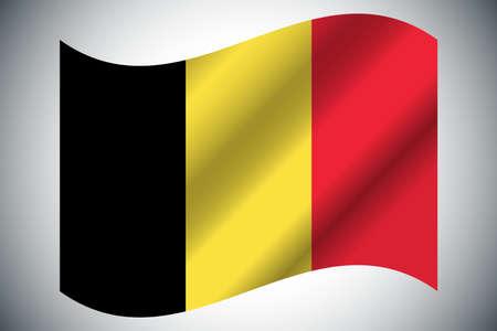 Flag of Belgium. Vector illustration. Grunge background
