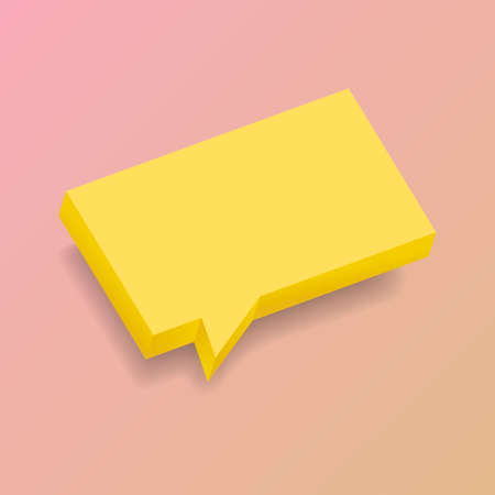 Speech bubbles. Realistic 3d style with shadows. Place for text