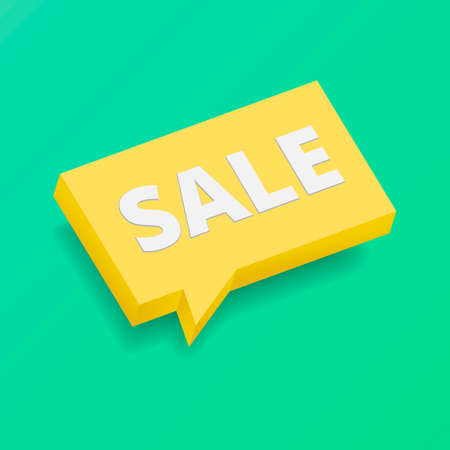 Sale banner template design. Mock up template with bubble. Realistic 3d style with shadows