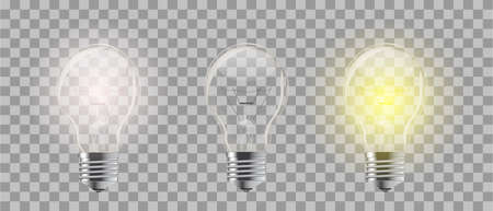 Light bulb. Realistic style lamp. Vector isolated