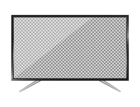 TV flat screen lcd, plasma realistic vector illustration.