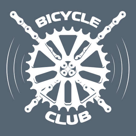 Bicycle label design. Shop and service. 矢量图像