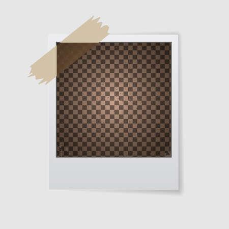 Vintage photo frame. Transparent background. Realistic detailed photo icon
