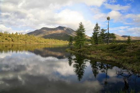 Scenery of the Republic of Buryatia, Sayan MountainsUsed toning of the photo