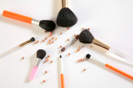 Blush and brushes