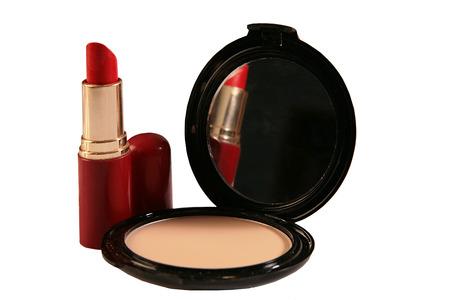 Lipstick and powder 版權商用圖片