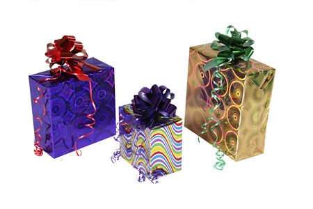 Gift and gifts isolated on white background