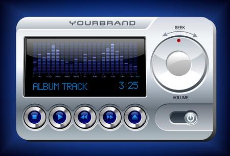 Music Player with Spectrum Analyzer Illustration
