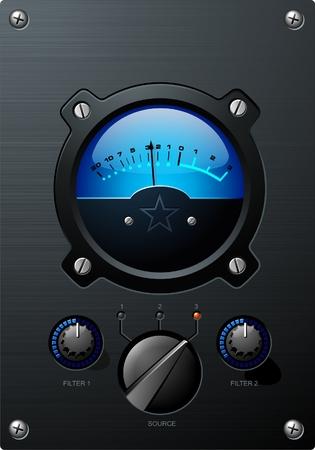 青い音量メーター  イラスト・ベクター素材