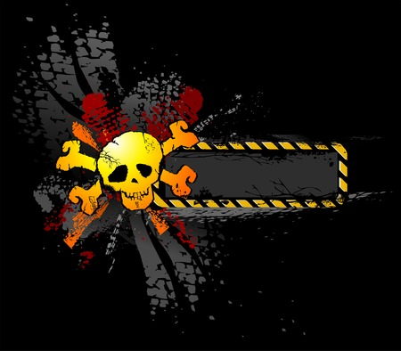 grunge background: Grunge Skull