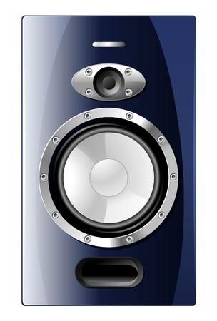 Blue Speaker Stock Vector - 3438117