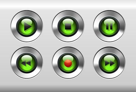 音楽プレーヤーのボタン