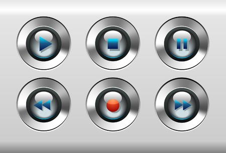 Music Player Buttons 向量圖像