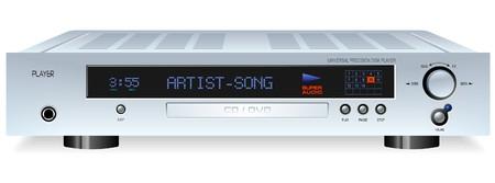 Hi-Fi DVD or CD Player Stock Illustratie